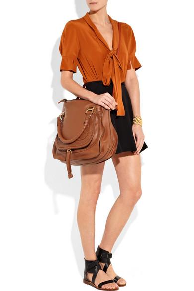 chlo marcie large leather tote net a porter com. Black Bedroom Furniture Sets. Home Design Ideas