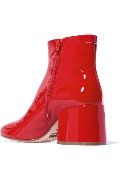 Günstig Kaufen Manchester Großen Verkauf Freies Verschiffen Hohe Qualität MM6 Maison Margiela Ankle Boots aus Lackleder Sast Online CyDGG9KG