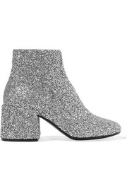 Bead-embellished leather ankle boots