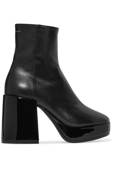MM6 Maison Margiela Ankle Boots aus Leder mit Plateau