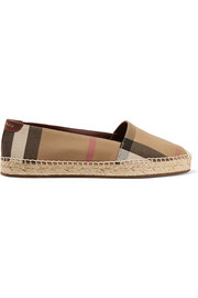 Burberry Hodgeson checked canvas espadrilles
