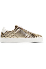 Burberry Quilted metallic leather sneakers