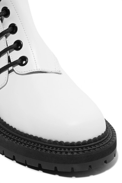 Burberry Ankle Boots aus Leder mit Schnürung Billig Freies Verschiffen Neue Angebote BgCpq5G