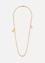 Wrap 18-karat gold necklace