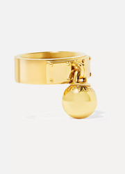 Tiffany & Co. Ball Dangle 18-karat gold ring