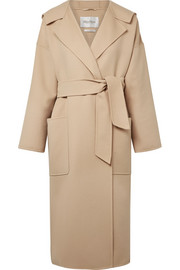 Max Mara Hooded wool and cashmere-blend coat