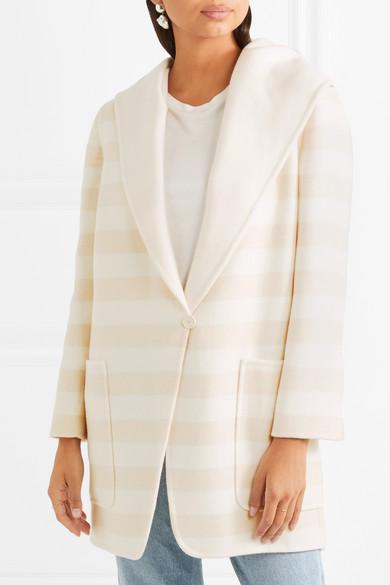 Max Mara Gestreifter Mantel aus einer Woll-Kaschmirmischung