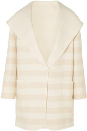 Max Mara Striped wool and cashmere-blend coat