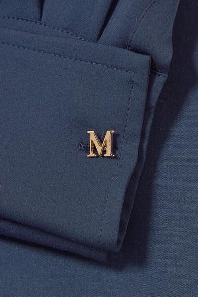 Max Mara Kleid aus Stretch-Wolle und Crêpe de Chine aus Seide mit Wickeleffekt