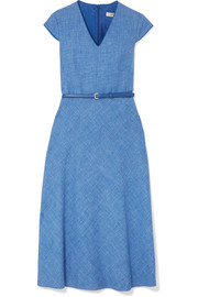 Max Mara Caramba silk, linen and wool-blend midi dress