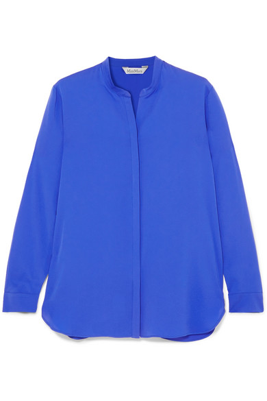Verkauf Besuch Neu Spielraum Shop-Angebot Max Mara Seidenhemd aus Crêpe de Chine Rabatt Geringe Versandgebühr Rabatt Empfehlen 31BjYkga