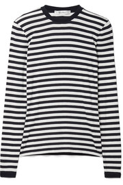 Favola striped stretch-jersey top
