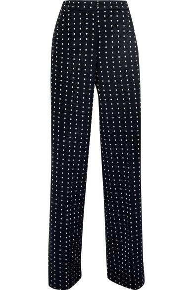 Max Mara Dingo Hose mit weitem Bein aus Jersey mit Polka-Dots