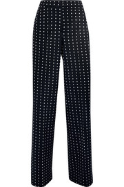 Max Mara Dingo polka-dot jersey wide-leg pants