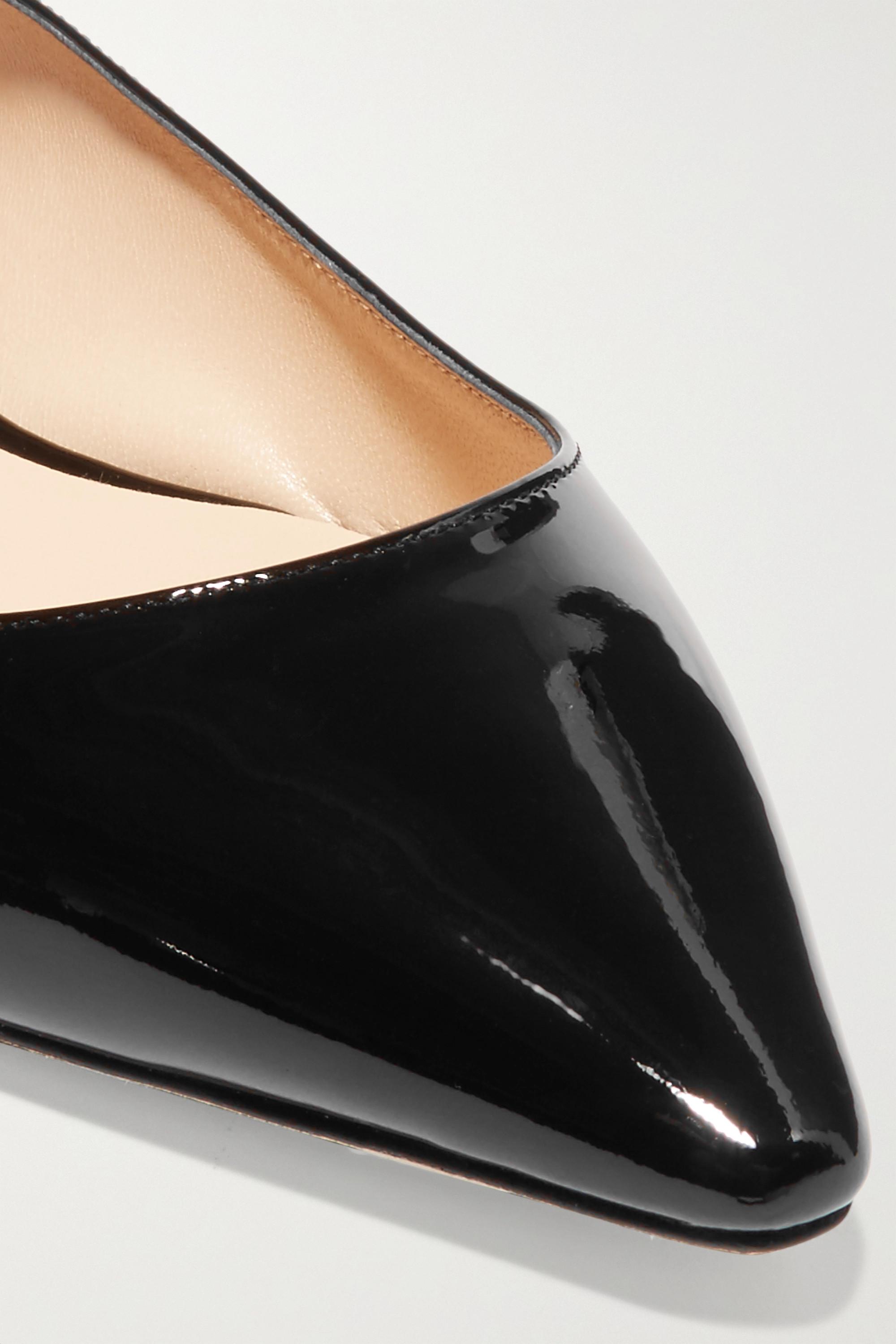 Jimmy Choo Romy patent-leather point-toe flats