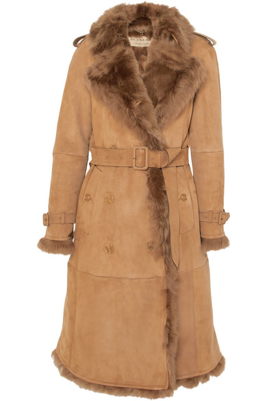Burberry - Tolladine Shearling Trench Coat - Camel