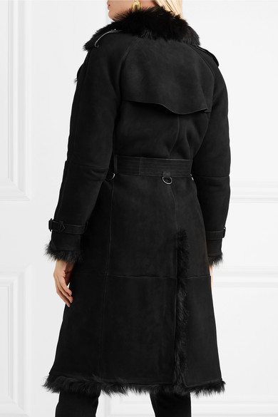 Burberry Tolladine Trenchcoat aus Shearling