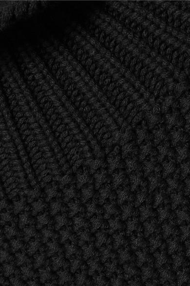 Burberry Dawson Kaschmirpullover mit Waben- und Rippstrickmuster