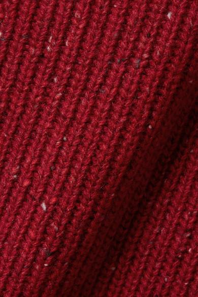Burberry Oversized-Pullover aus einer gerippten Woll-, Kaschmir- und Mohairmischung