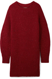 Oversized ribbed wool, cashmere and mohair-blend sweater