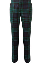 Tartan wool straight-leg pants