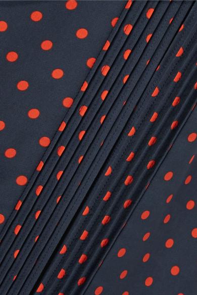 Burberry Midirock aus Seide mit Polka-Dots und Biesenfalten