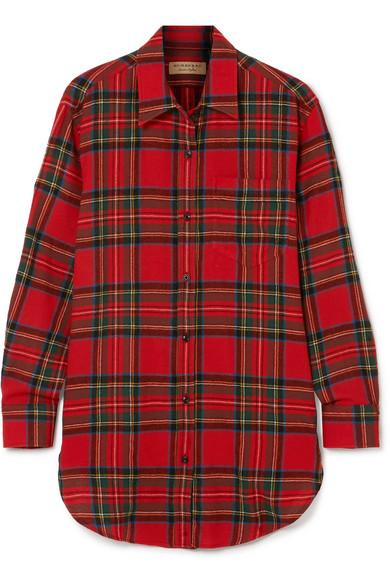 Burberry Hemd aus Wollflanell mit Tartan-Muster
