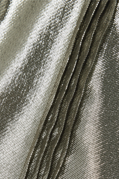 Burberry Lame-shirt From A Silk Blend With Tucks