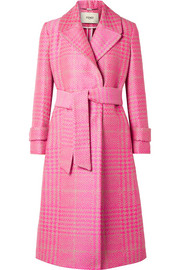 Fendi Prince of Wales checked jacquard coat