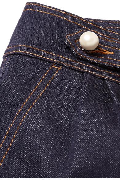 Fendi Verkürzte, hoch sitzende Jeans mit weitem Bein