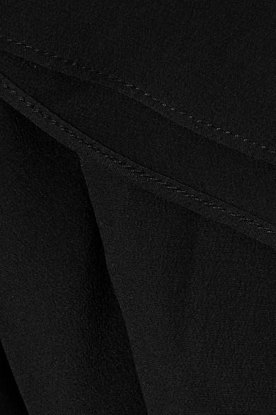 Fendi Bluse aus Crêpe de Chine aus Seide mit Kunstperlenverzierung