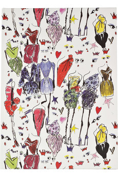 Lanvin | Illustrated dress notebook | NET-A-PORTER.COM from net-a-porter.com