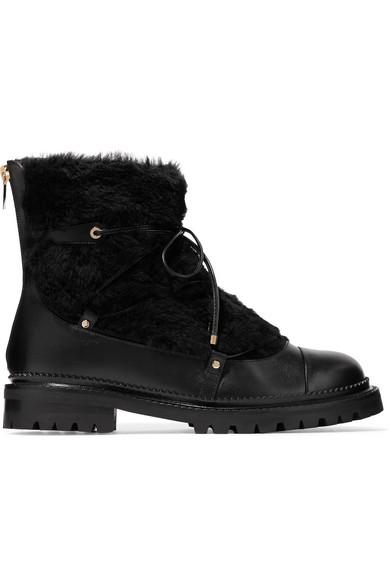 Jimmy Choo Darcie Ankle Boots aus Shearling und Leder