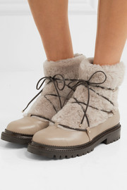 Jimmy Choo Darcie shearling and leather ankle boots