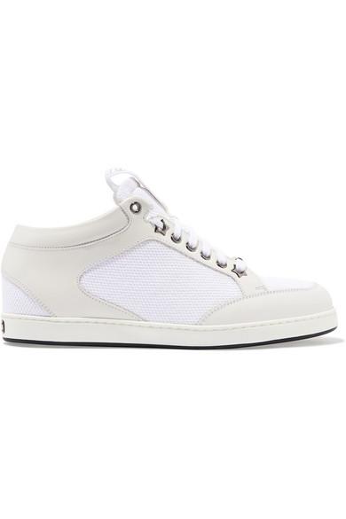 Jimmy Choo Miami Sneakers aus Leder mit Canvas-Einsätzen