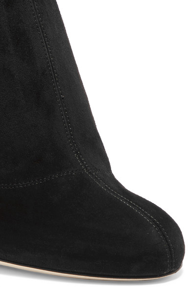 3a34972a946b25 Jimmy Choo | Mya 100 embellished stretch-suede over-the-knee boots ...
