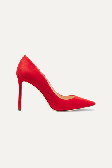 Women'S Romy 100 High-Heel Pointed Toe Pumps in Red