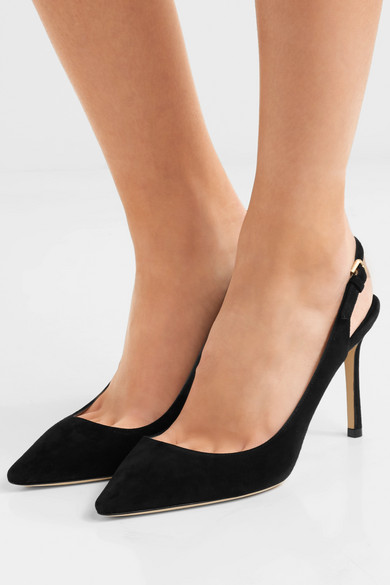 552381a3a4d Jimmy Choo. Erin 85 suede slingback pumps