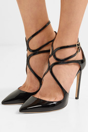 Jimmy Choo Lancer 100 cutout  patent-leather pumps
