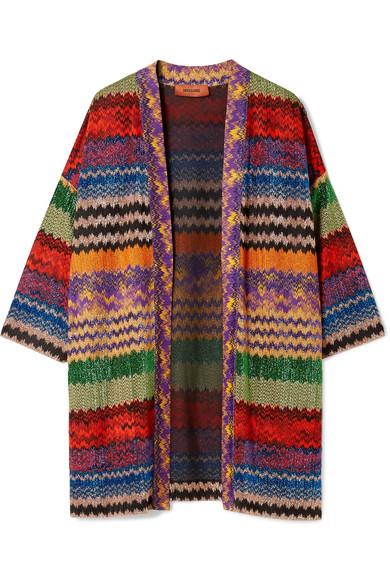 Missoni - Metallic Crochet-knit Cardigan - Red