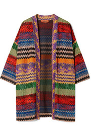 Missoni Metallic crochet-knit cardigan
