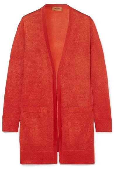 Missoni - Metallic Stretch-knit Cardigan - Red