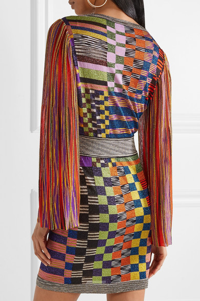 Missoni Minikleid aus Stretch-Strick mit Metallic-Effekt