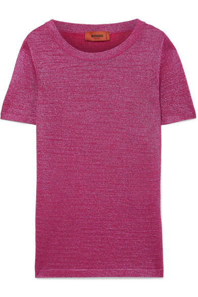 Missoni T-Shirt aus Stretch-Strick in Metallic-Optik