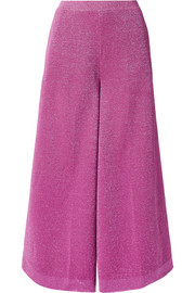 Cropped Lurex wide-leg pants