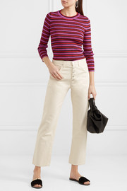 Missoni Striped metallic stretch-knit top