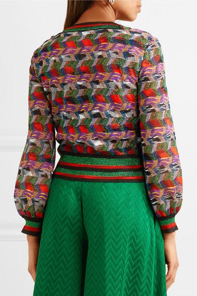 Missoni Pullover aus Strick in Häkeloptik mit Metallic-Effekt