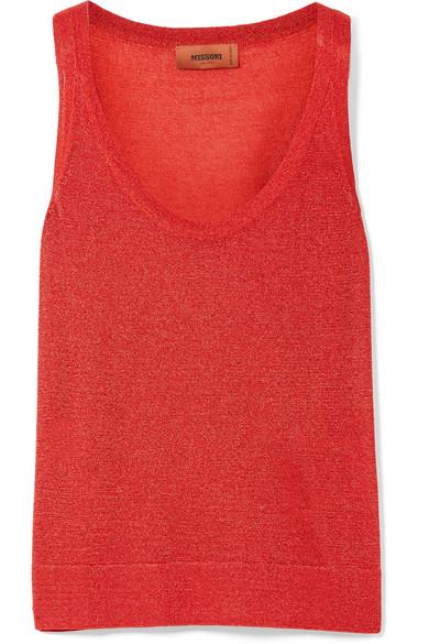 Missoni - Metallic Knitted Tank - Red