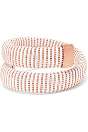Caro rose gold-plated and cotton bracelet