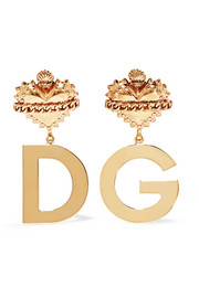 Dolce & Gabbana Gold-plated clip earrings